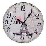 Ceas de perete, 30 cm, imprimeu Paris