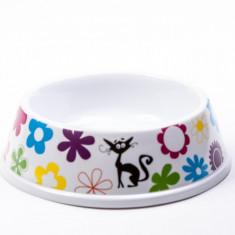 Castron melamina pisici colorat/ alb-negru - 200 ml - 994021 (Culoare: colorat)