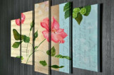 Tablou decorativ pe panza Majestic, 5 Piese, 257MJS3215, Multicolor