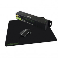 Mousepad gaming, 440x354x4 mm, Negru