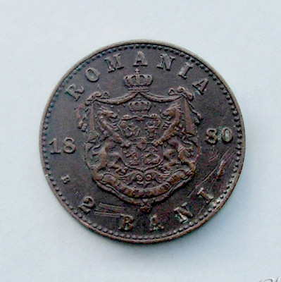 ROMANIA - 2 Bani 1880 foto