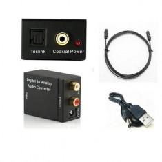 Convertor / adaptor semnal audio optic toslink digital-analog / RCA