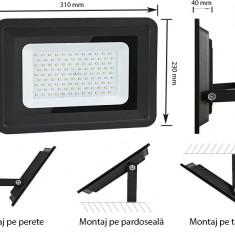 Proiector LED 100W (570W) OptonicaLED,8500 lumeni, lumina neutra 4500K