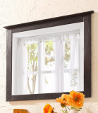 Oglinda Emden Minik, lemn de pin/sticla, maro inchis, 75x3x70 cm