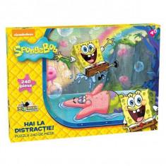 Puzzle 240 piese Spongebob - Hai la distractie!
