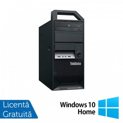 Workstation Lenovo ThinkStation E30 Tower, Intel Dual Core i3-2120 3.30GHz, 8GB DDR3, 1TB SATA, Intel Integrated HD Graphics 2000, DVD-RW + Windows 10 foto