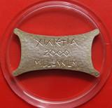 Cipru 2 Pounds 2000(1999) Proof argint 15g Design Unic KM# 73a, Europa