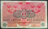 Bancnota ISTORICA 1 COROANA - AUSTRO-UNGARIA (AUSTRIA), anul 1916   *cod 375 A