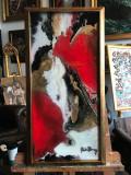 80 Zile toride.  Tablou abstract. Tablou original semnat. Tablou decorativ