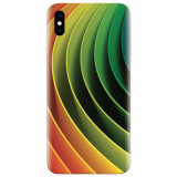 Husa silicon pentru Apple Iphone XS Max, 3D Multicolor Abstract Lines