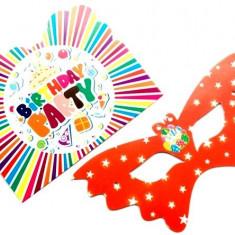 Set petrecere invitatii si masti