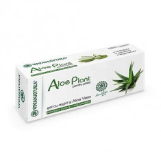 Gel Aloe Plant cu Aloe Vera si Argint Coloidal, 20ml, Viva Natura