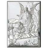 Icoana Argint Ingerul Pazitor 13x18x2cm Argintiu COD: 3151
