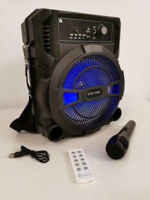 Boxa portabila Bluetooth cu Microfon + telecomanda Charger USB foto