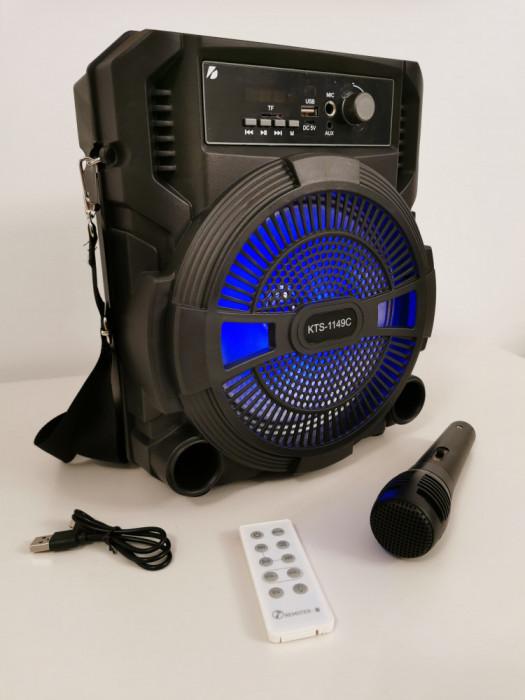 Boxa portabila Bluetooth cu Microfon + telecomanda Charger USB