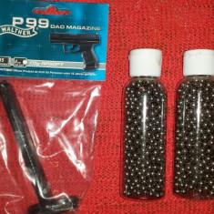 incarcator pt. pistol airsoft walther p 99 dao Plus 2000 bile otel / metal 6 mm