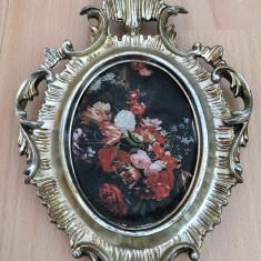 Tablou matase - decorativ / de colectie - rama baroc - Italia