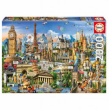 Cumpara ieftin Puzzle Europe Landmarks, 2000 piese, Educa