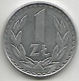 No(3) moneda-Polonia ,1 Zlot 1982, Asia, Aluminiu