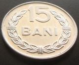 Moneda 15 BANI - RS ROMANIA, anul 1975   *cod 2251  UNC - ALUMINIU!