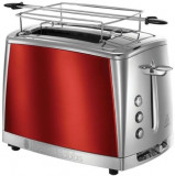 Prajitor de paine Russell Hobbs Luna Solar Red 23220-56, 1550 W, 2 felii, 6 nivele (Rosu/Inox)