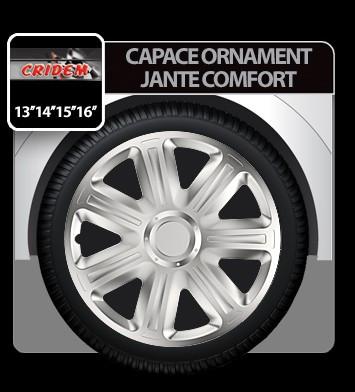 Capace ornament jante Comfort 4buc - Argintiu - 14' - CRD-VER1402+C Auto Lux Edition