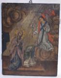 Icoana veche BUNA VESTIRE anii 1870 / Icoana veche pictata caractere chirilice