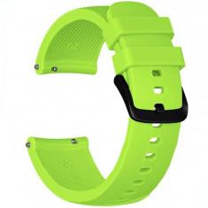 Curea ceas Smartwatch Samsung Gear S2, iUni 20 mm Silicon Light Green