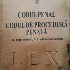 Codul penal. Codul de procedura penala cu modificarile pana la 15 feb. 2000