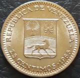 Moneda 25 CENTIMOS - VENEZUELA, anul 1965 *cod 120, America Centrala si de Sud