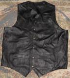 Vesta de piele rock, chopper/moto/motor/biker/motociclist, marimea XXL, M, Negru
