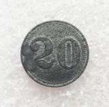 Jeton Austria - 20 Heller 1915 - Prizonier Lagar Ausserfelden