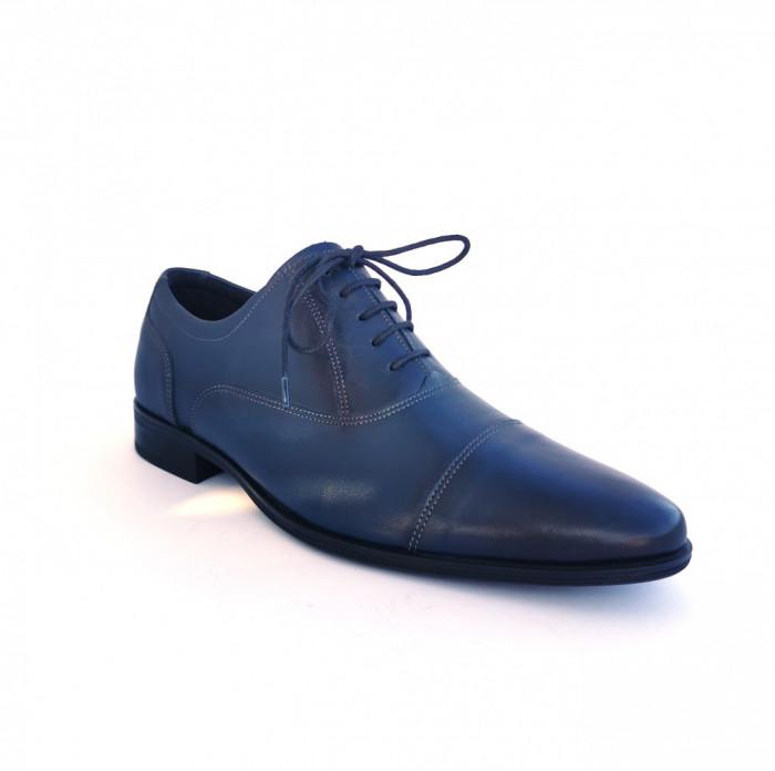 Pantofi barbati,Francesco Ricotti,Cod FR100347, culoare albastru,marime 40