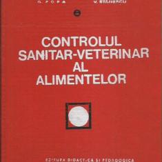 AS - DR. POPA GAVRILA - CONTROLUL SANITAR-VETERINAR AL ALIMENTELOR