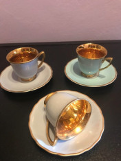 Cesti deosebite cafea interior aurit foto