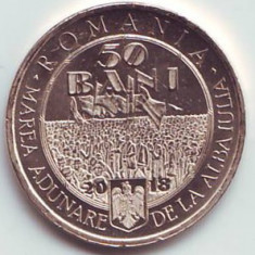 50 bani 2018, Marea Unire, România, UNC