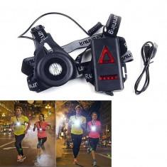 Lanterna LED pentru jogging Run Lights 1800 mAh