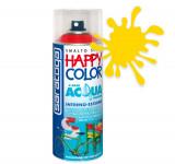 Spray vopsea Galben Ral 1023 HappyColor Acqua pe baza de apa, 400ml Kft Auto