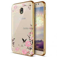 Husa Samsung Galaxy J5 2017 - Luxury Flowers Gold