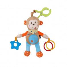 Jucarie pentru bebelusi Maimuta BabyMix STK13529M, Maro