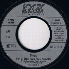 Snap! - Cult of Snap (Zumba-E) (1990, Logic Records) Disc vinil single 7""