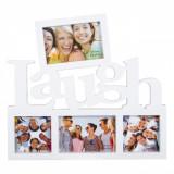 Rama foto colaj, model Laugh, 35×39 cm, alb