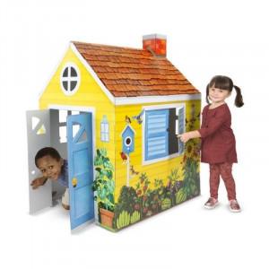 Casuta din carton Country Cottage Melissa and Doug,137 x 99 x 85 cm
