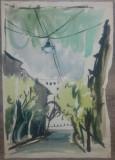 Scena citadina// acuarela pe hartie