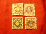 Serie Suedia 1892 cifra , stele ,4val. stampilate, Stampilat