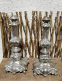 Set sfesnice Rococo argintate