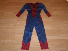costum carnaval serbare spiderman pentru copii de 6-7 ani foto
