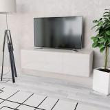 Comodă TV, PAL 120 x 40 x 34 cm Alb foarte lucios