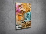 Tablou decorativ pe panza Majestic, 257MJS1249, Multicolor