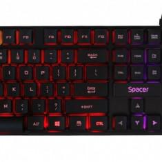 Kit tastatura si mouse USB Gaming RGB, Spacer SP-GK-01